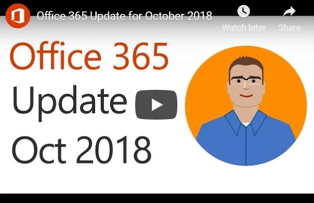 Office 365 Updates October
